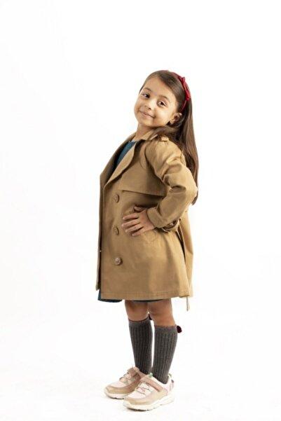 Kız Çocuk Trençkot Taba