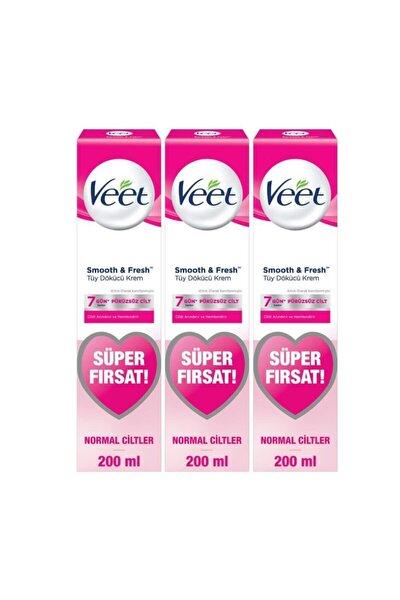 Tüy Dökücü Krem Normal Ciltler Için Bacak Ve Vücut Bölgesi - 600 ml (200x3 Adet)