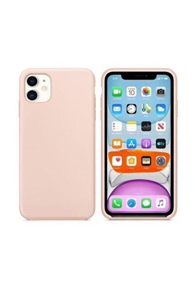 """Iphone 11 6.1"""" Içi Kadife Lansman Silikon Kılıf Toz Pembe"""