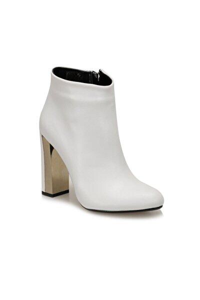 BURGOS Beyaz Kadın Topuklu Bot 100523291
