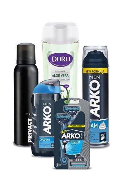 Arko Men Tıraş Seti Privacy Deodorant 150ml Ve Micellar Aloevera Duş Jeli 450 ml