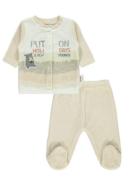 Erkek Bebek Pijama Takımı 0-6 Ay Bej