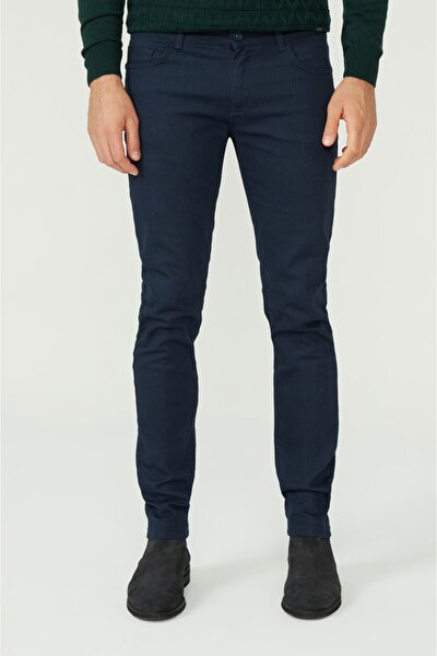 Erkek Lacivert 5 Cepli Slim Fit Pantolon A02y3055