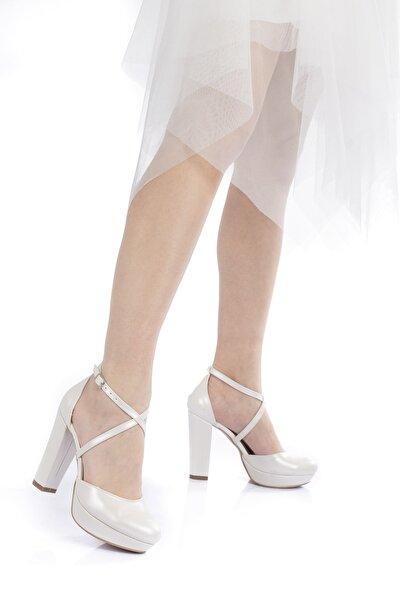 Sedef Cilt Kadın Abiye Ayakkabı 2010cnr