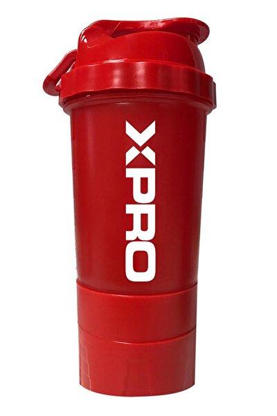 3 Bölmeli Shaker Kırmızı 500ml