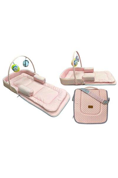 Çok Amaçlı Portatif Bebek Yatağı 75x40 Cm - Pembe