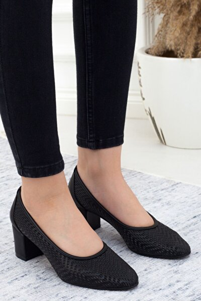 Siyah Kısa Topuk Kadın Günlük Ayakkabı • A202ystm0004