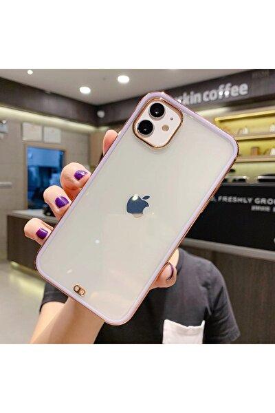 Iphone 11 Premium Electrolize Silikonlu Lila Telefon Kılıfı