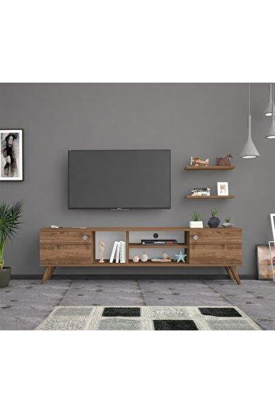 Bena Mobilya Benan Ceviz 180 Cm Tv Sehpası Tv Ünitesi