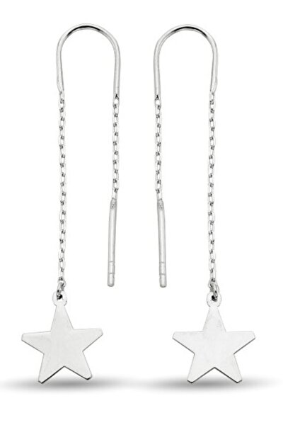 Sılver Yıldız Sallantılı Gümüş Küpe
