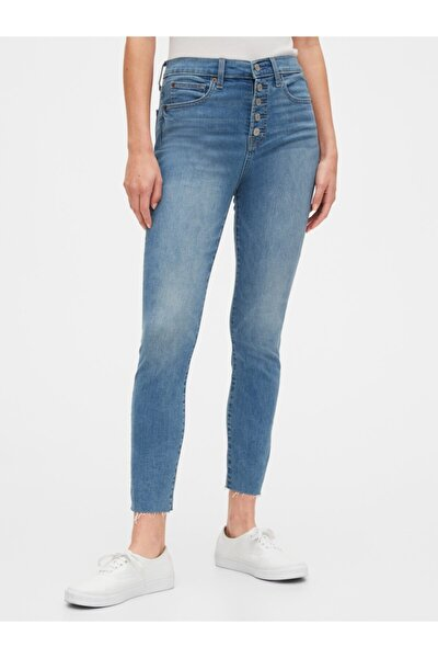 High Rise True Skinny Ankle Jean Pantolon