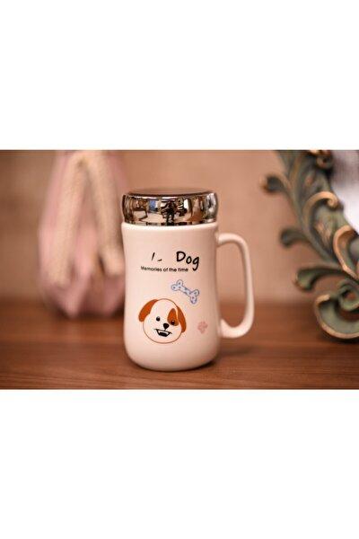 Mug Dog Termos Porselen Bardak Kupa ( Kapaklı ) 375ml
