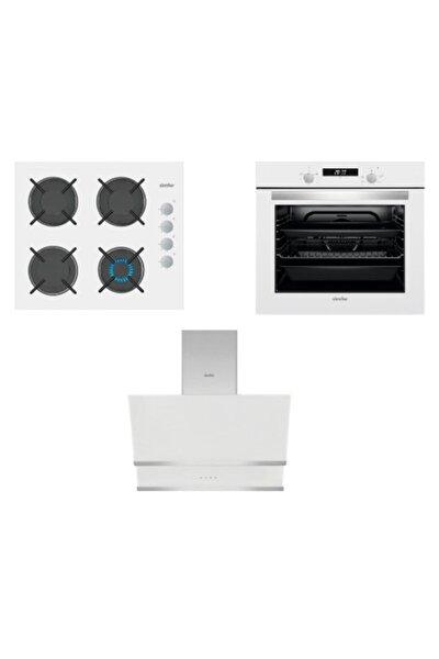 Kardelen Beyaz Dijital Ankastre Cam Set (3507 - 8668 - 7340)