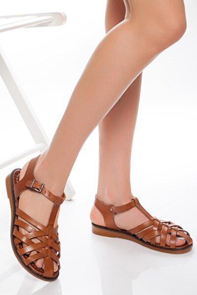 Hakiki Deri Taba Kadın Deri Sandalet Rma-3081