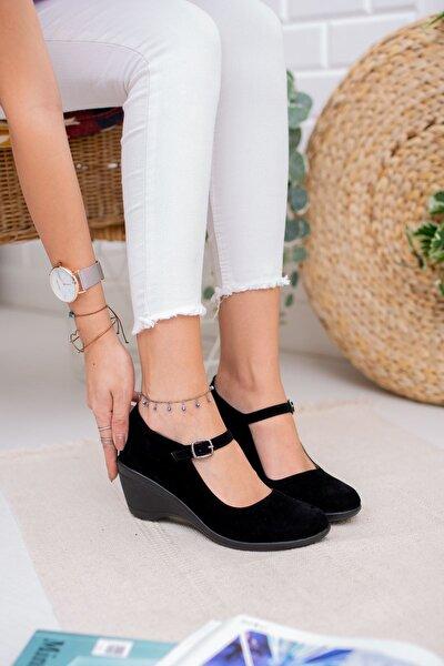 Dolgu Taban Tokalı Kadın Ayakkabı