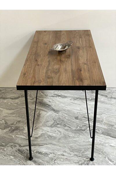Ayaklı Amalfi Ceviz Desen Dekoratif Mutfak Masası 60x120 Cm