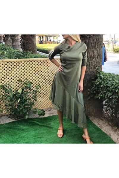 Haki Yeşil Günlük Elbise