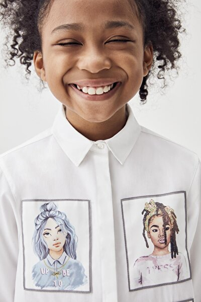 Kız Çocuk Beyaz Gömlek 20fw0tj4603
