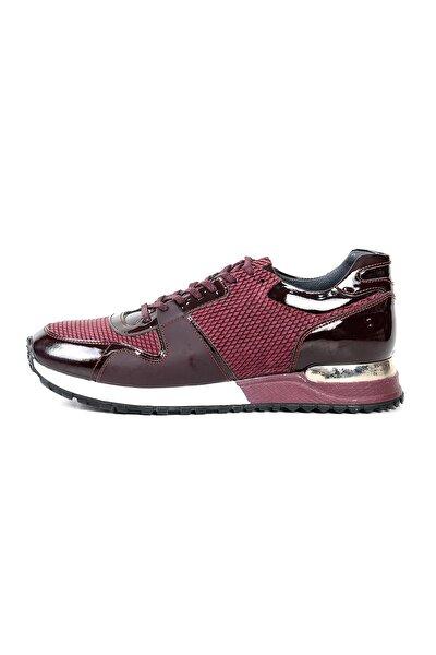 590206 Erkek Ayakkabı Bordo Kalın Taban