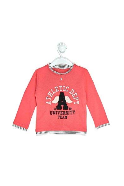 """1048 Erkek Bebek """"athletic Dept"""" Nakışlı Omuzu Patlı Sweatshirt"""