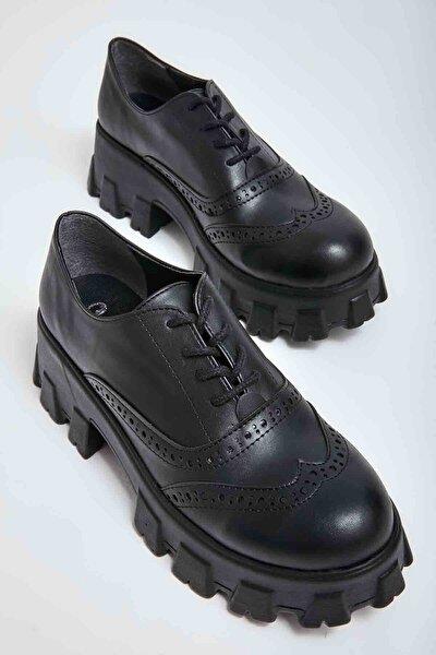 Siyah Kadın Oxford Ayakkabı M0778267009