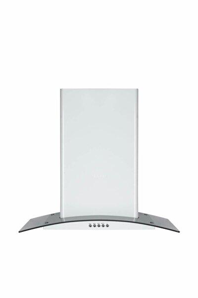T5632sm 60 Cm. Dekoratif Füme Camlı Beyaz Davlumbaz