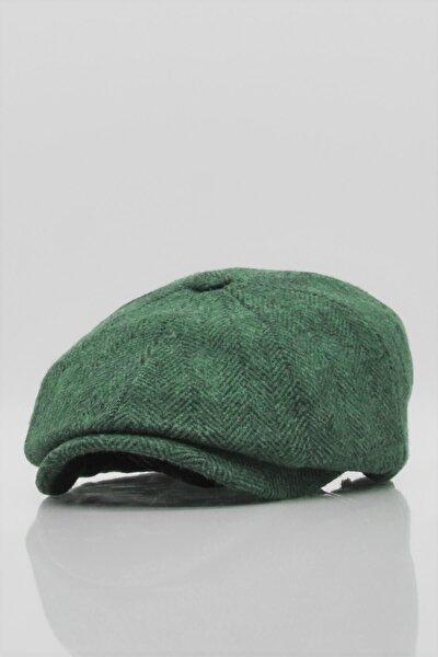 Erkek Peaky Balıksırtı Desenli Ingiliz Kasket Şapka