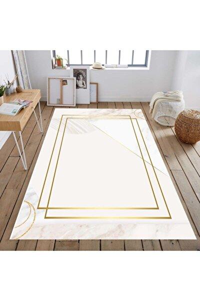 Masse Serisi Gold Bordürlü Mermer Dekoratif Salon Halısı
