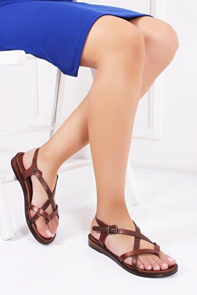 Hakiki Deri Twinkle-3 Kadın Deri Sandalet Dp-0071