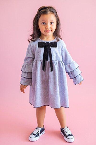 Gri Kız Çocuk Elbise Mini Miss