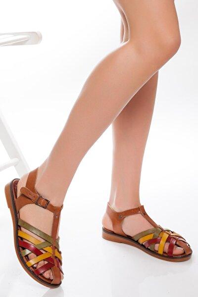 Hakiki Deri Multi-1 Kadın Deri Sandalet Rma-3081