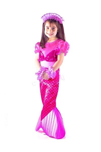 Kız Çocuk Pembe Deniz Kızı Kostümü Çocuk Kıyafeti