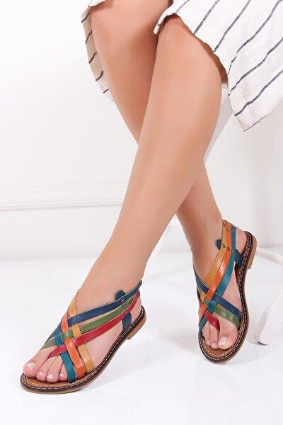 Hakiki Deri Multi-1 Kadın Deri Sandalet Dp28-0808