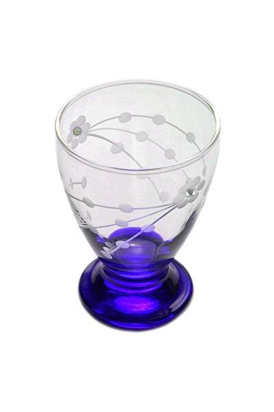 41011 Çın Çın 12 Adet (Mavi Selvi Taşlı) Su-meşrubat Bardağı