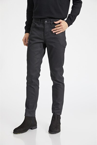 Erkek Siyah Slim Fit Jean Pantolon E003503