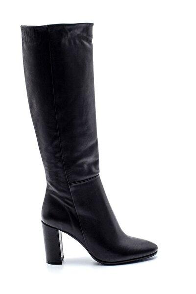 Kadın Deri Topuklu Çizme