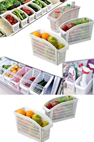 Buzdolabı Içi Dolap Içi Düzenleyici Organizer 4 Adet