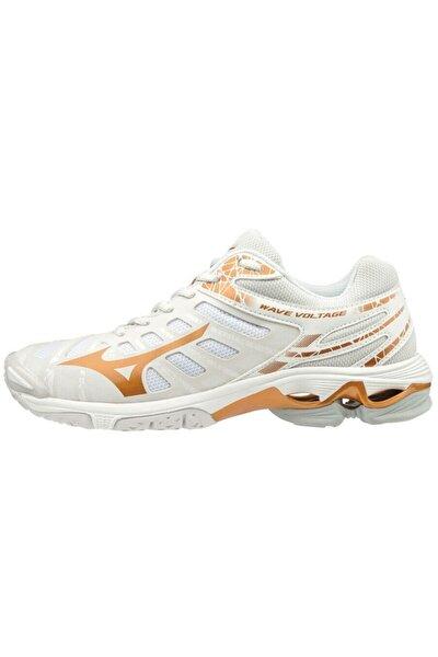 Kadın Beyaz Bağcıklı Wave Voltage Voleybol Ayakkabısı