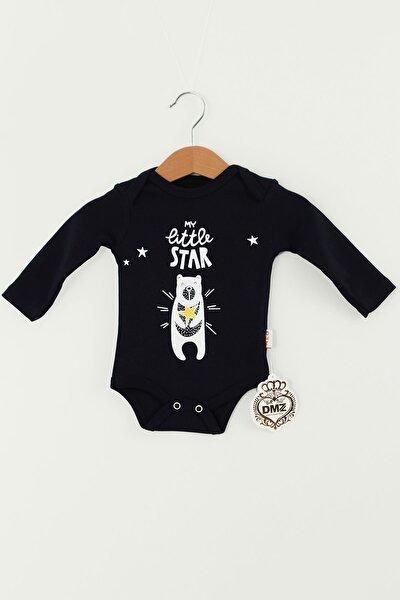 My Little Star Detaylı Bebek Unisex Zıbın (Siyah)