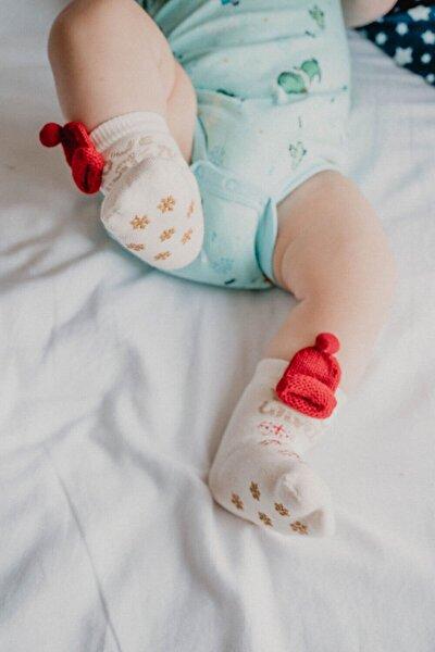 New Joys Kız Bebek Çorap - Ekru