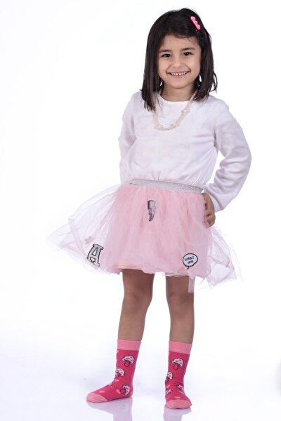 3'lü Paket - Idilfashion Mantar Desenli Kız Çocuk Soket Çorabı Ç-art125