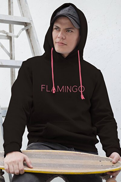Kadın Justflamingo Sweatshirt Siyah