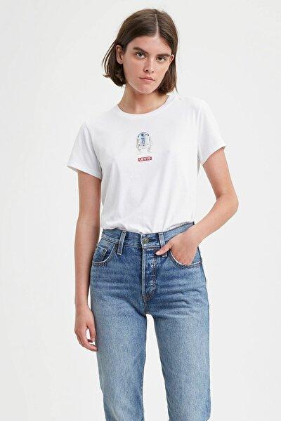 Kadın Beyaz Star Wars Tişört 17369-0875