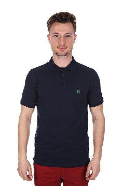 Erkek Lacivert Polo Yaka Slim Fit Tişört