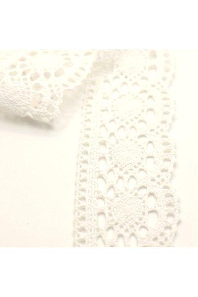 Beyaz Kopanaki Pamuklu Dantel 3520