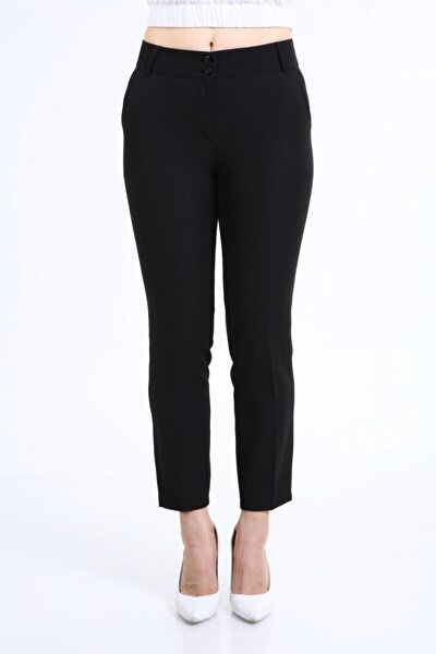Klasik Siyah Kumaş Pantolon