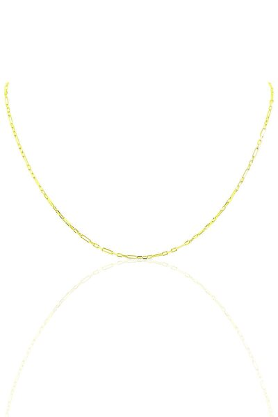 Gümüş 45 Cm Altın Rengi Aralıklı Figaro Zincir Sgtl10100gold
