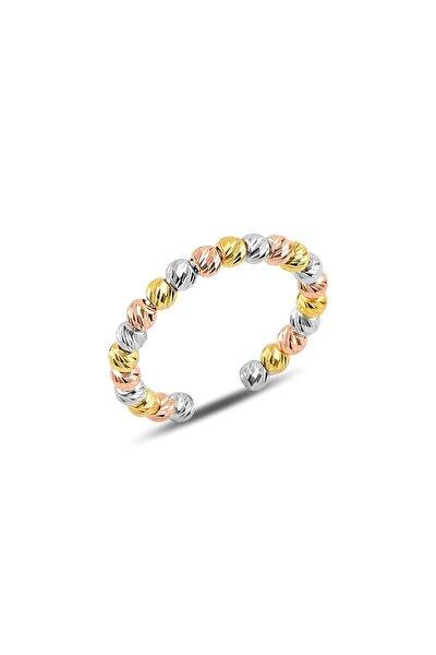 Gümüş Ayarlamalı Renkli Dorica Toplu Yüzük