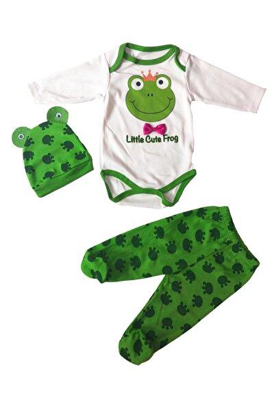 Kurbağalı Bebek Tulum 3'lü Set