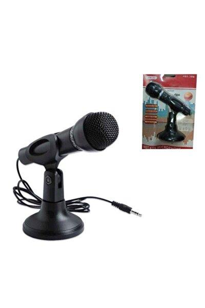 Masa Üstü Siyah Kablolu Standlı Pc Mikrofonu